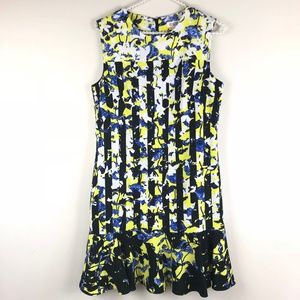 Peter Pilotto Yellow Black Blue Dress Size Small